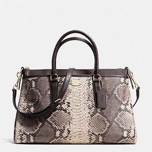 COACH Python Embossed Leather MORGAN Satchel